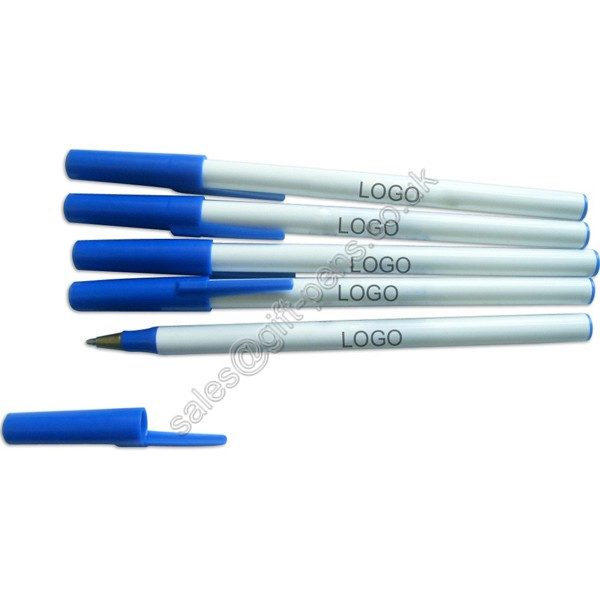 pp plastic stick ball pen,extruded barrel stick ballpoint pen, simple stick pen