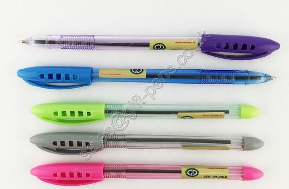 Hot Simple Office Plastic Cap Ball Pen