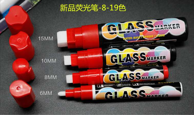 8 Color Liquid water-based 8pcs 3mm Highlighter Fluorescent Liquid Chalk Marker