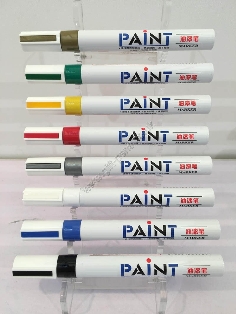 Aluminium Paint Marker Oil Based With Acrylic Tip 1.2mm writing in any surfaces