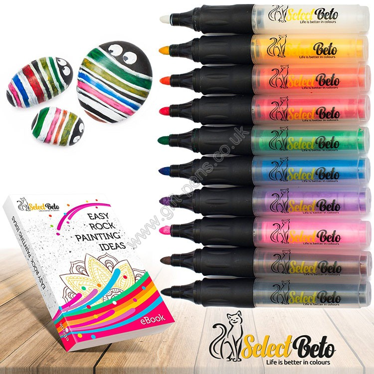 10 colors custom brand water base ink stone paint marker pen