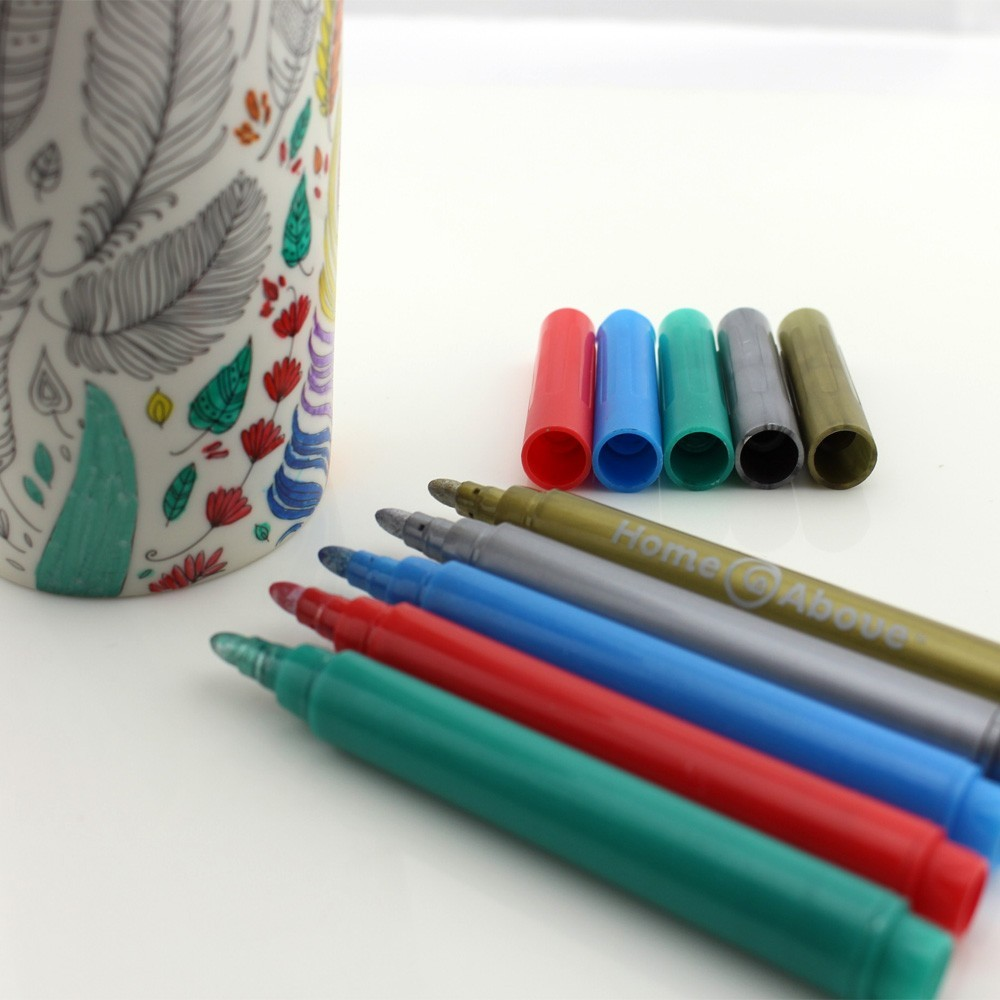Ceramic plate high temperature oven baked ceramic marker pen