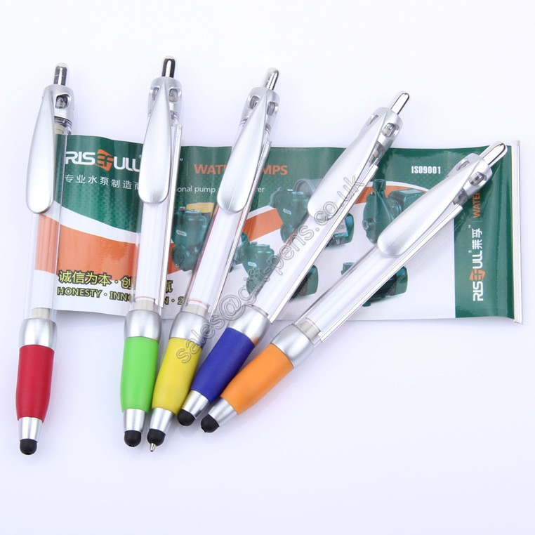 Advertisting Logo Novelty Massage Pen with touch stylus,stylus promotional pen